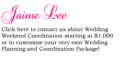 Planning Wedding on Event And Wedding Planning By Jaime Lee